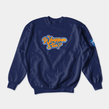 blue signature crewneck